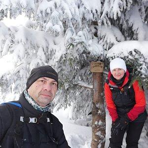 Dana + jirka na vrcholu Malá Stolová (17.1.2021 12:13)