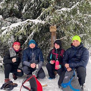 Veronika Hronková na vrcholu Malá Stolová (30.1.2021 9:40)