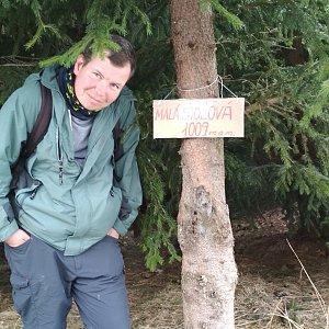 Michal Krčmář na vrcholu Malá Stolová (24.3.2019 14:03)