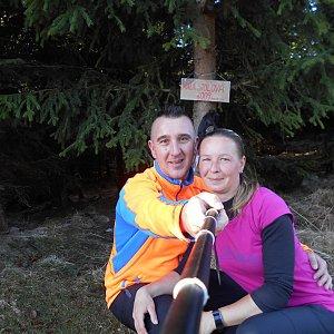 Romana Larischová na vrcholu Malá Stolová (7.4.2019 8:48)