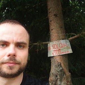 Jiří Chmiel na vrcholu Malá Stolová (22.6.2019 9:45)