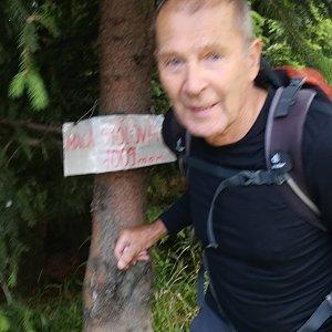 MUDr.Svatopluk Kunčar na vrcholu Malá Stolová (11.7.2019 11:51)