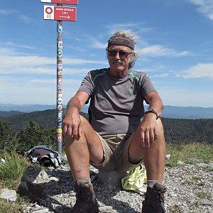 Jarda Vála na vrcholu Ljubičko brdo (26.8.2020 10:45)