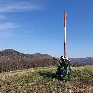 Petr Pepe Peloušek na vrcholu Kamenice (17.3.2020 9:44)