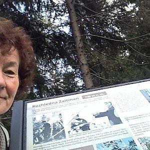Anna na vrcholu Žaltman (28.9.2021)