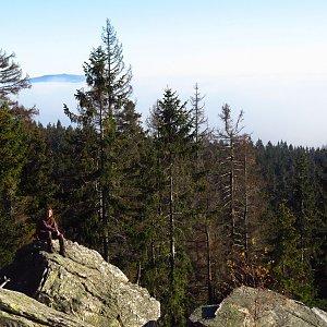 Iveta Válová na vrcholu Bílá skála (10.11.2020)