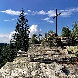 Martin Matějka na vrcholu Bílá skála (13.7.2018 16:34)