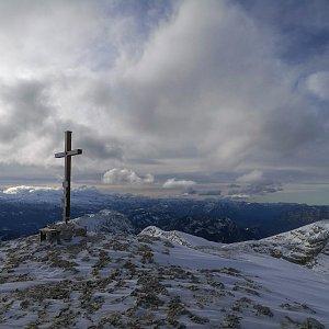 martenzites na vrcholu Großes Tragl (16.11.2019 13:51)
