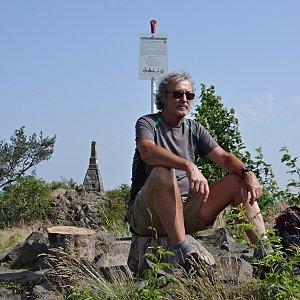 Jarda Vála na vrcholu Mužský (21.6.2021)