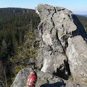 Jiří Tomaštík na vrcholu Malinská skála (28.2.2021 12:47)