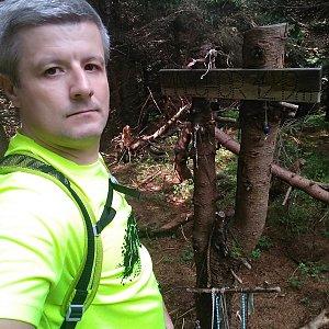 Vítězslav Vrána na vrcholu Malchor (2.8.2019 9:51)