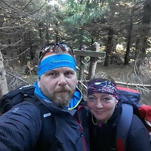 Martin a Jana Halamíčkovi na vrcholu Malchor (24.11.2019 11:07)