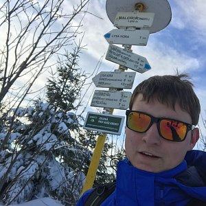 Bronislav na vrcholu Malchor (2.1.2020 12:00)