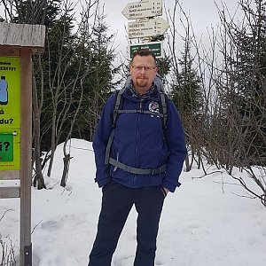 Martin Kocián na vrcholu Malchor (18.1.2020 10:13)