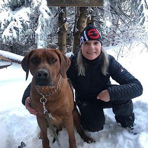 Karin Satoriová na vrcholu Malchor (8.2.2020 9:52)