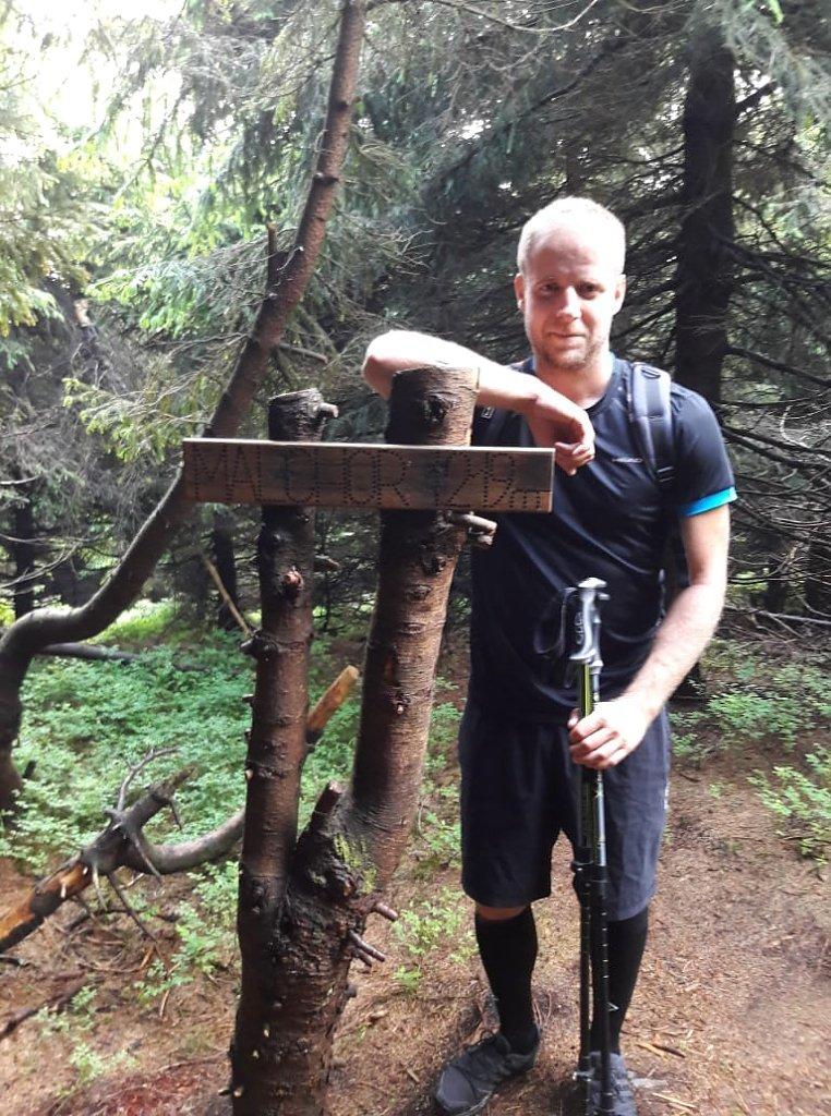 Jan Juchelka na vrcholu Malchor (3.6.2018 17:00)