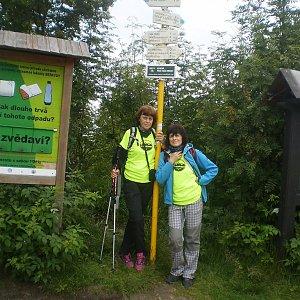 Vlasta a Zdena na vrcholu Malchor (1.7.2018 22:48)