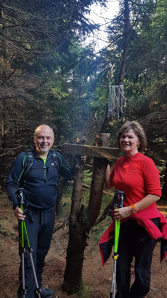 Fido a Myszka na vrcholu Malchor (4.11.2018 11:09)