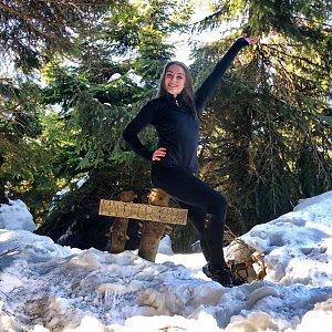 Nicole na vrcholu Malchor (7.2.2019 13:12)