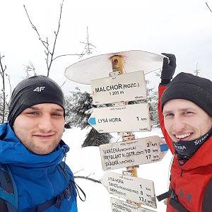 MartinMoli na vrcholu Malchor (2.3.2019 9:09)