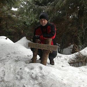 Jiří P na vrcholu Malchor (9.3.2019 12:12)