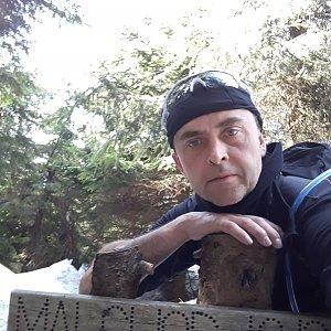 Pavel Skřičík na vrcholu Malchor (30.3.2019 11:56)