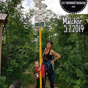 Zde Nka na vrcholu Malchor (7.7.2019 9:51)
