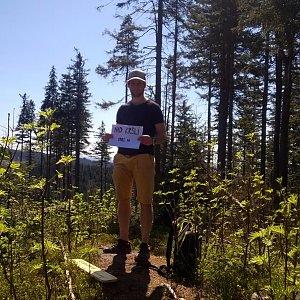 Jack Skurello na vrcholu Nad Kršlí (21.4.2018 13:04)
