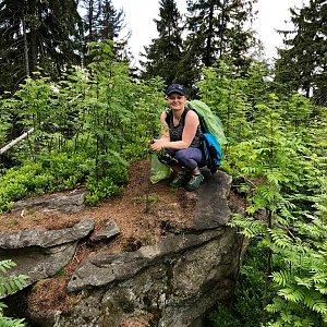 Hanka na vrcholu Nad Kršlí (12.5.2018 14:48)