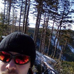 Jan Zamarski na vrcholu Nad Kršlí (26.1.2020 10:26)
