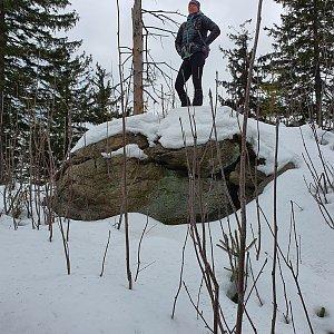 Hana Lančová na vrcholu Nad Kršlí (18.1.2020 13:06)