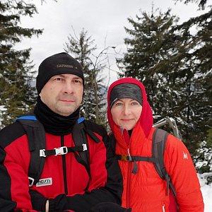 Dana + jirka na vrcholu Nad Kršlí (22.2.2020 11:34)