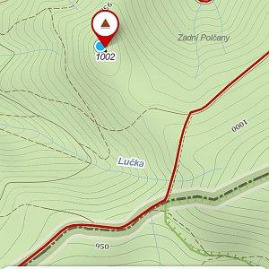 Michaela Karásková na vrcholu Nad Kršlí (5.4.2020 12:36)