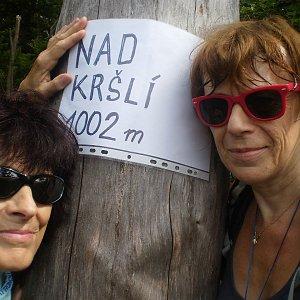Vlasta a Zdena na vrcholu Nad Kršlí (2.9.2018 20:45)