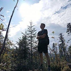 Michal Dimun na vrcholu Nad Kršlí (23.9.2020 10:46)