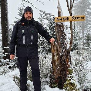 Jiří Gryz na vrcholu Nad Kršlí (24.1.2021 10:21)