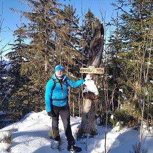 Vítězslav Vrána na vrcholu Nad Kršlí (20.2.2021 9:34)