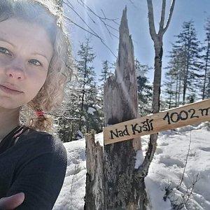Kačička na vrcholu Nad Kršlí (20.2.2021 12:00)