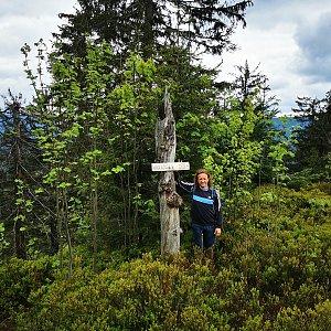 Tom Vachala na vrcholu Nad Kršlí (28.5.2021 12:00)