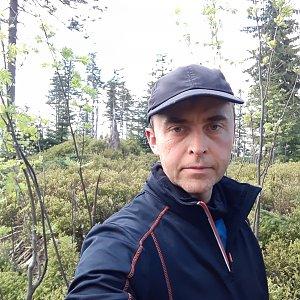 Pavel Skřičík na vrcholu Nad Kršlí (8.5.2019 11:19)