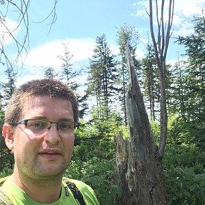 Radim Škrabánek na vrcholu Nad Kršlí (6.7.2019 11:16)