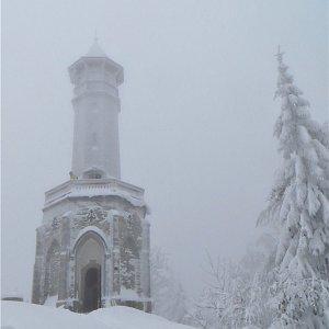 Iveta Válová na vrcholu Hvězda (12.1.2019)