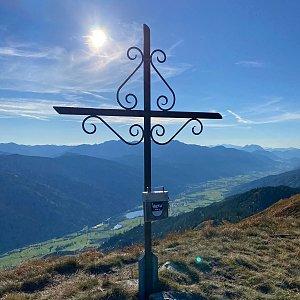 Martin Malý na vrcholu Blaseneck (25.9.2021 16:50)