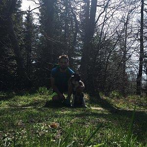 Jan Janiš na vrcholu Šindelná (22.4.2018 10:27)