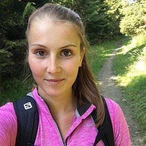 Natálie Cváčková na vrcholu Šindelná (15.7.2018 15:09)