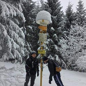 Vojtěch Horák na vrcholu Šindelná (24.2.2018)