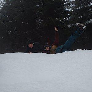 Vendula Kalocsányiová na vrcholu Šindelná (28.12.2018 13:17)
