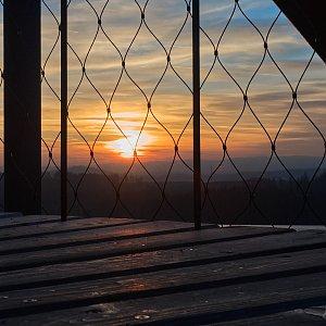 """Zdeněk """"DrakMrak"""" na vrcholu Pekelný (Pekelský) kopec (12.1.2020 17:15)"""