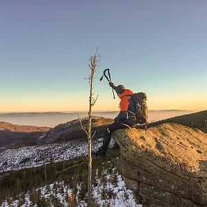 Jiří Němec na vrcholu Magurka Radziechowska (25.1.2020 7:00)