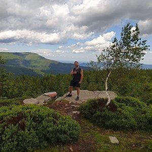 Petr Zajac na vrcholu Magurka Radziechowska (30.6.2020 11:09)